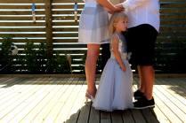 The littlest family member - Leeanne and John's wedding